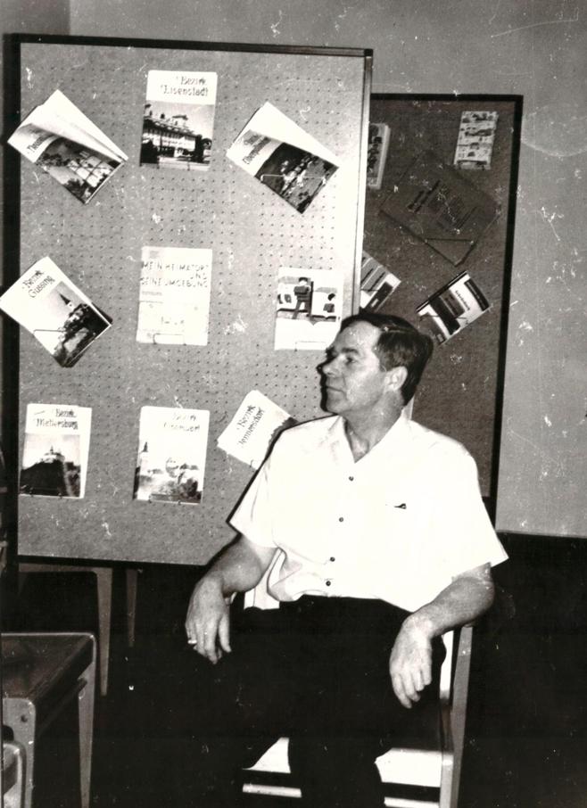 Dr. Weber, 1970 in der Landesberufsschule Pinkafeld